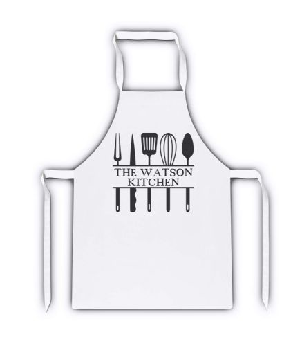 Personalised The Family Kitchen White Adult Apron